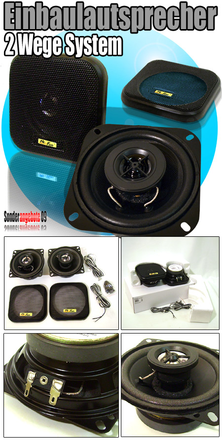 100 mm autolautsprecher kfz boxen set 2wege lautsprecher. Black Bedroom Furniture Sets. Home Design Ideas