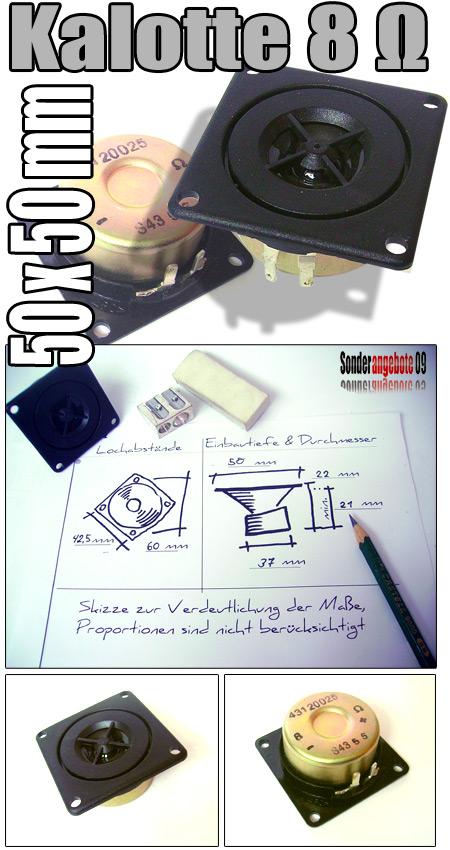 hifi hocht ner 8 ohm 50x50 mm hochton kalotte lautsprecher. Black Bedroom Furniture Sets. Home Design Ideas