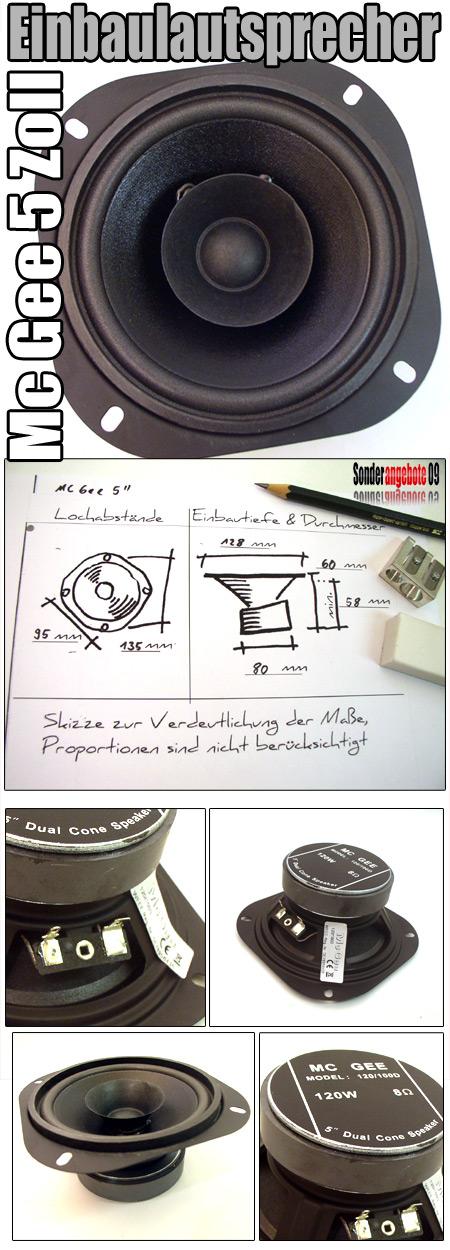 130 mm pa breitbandlautsprecher lautsprecher box mittelt ner 5 mcgee ebay. Black Bedroom Furniture Sets. Home Design Ideas